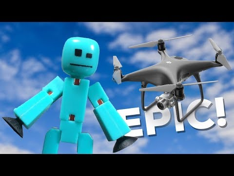 STIKBOT FLIES A DRONE - #Stikbot Stop Motion Animation