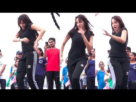 OMG Nora Fatehi DANCING on Mumbai Beach Made CROWD go CRAZY   Batla House SUCESS Mp3