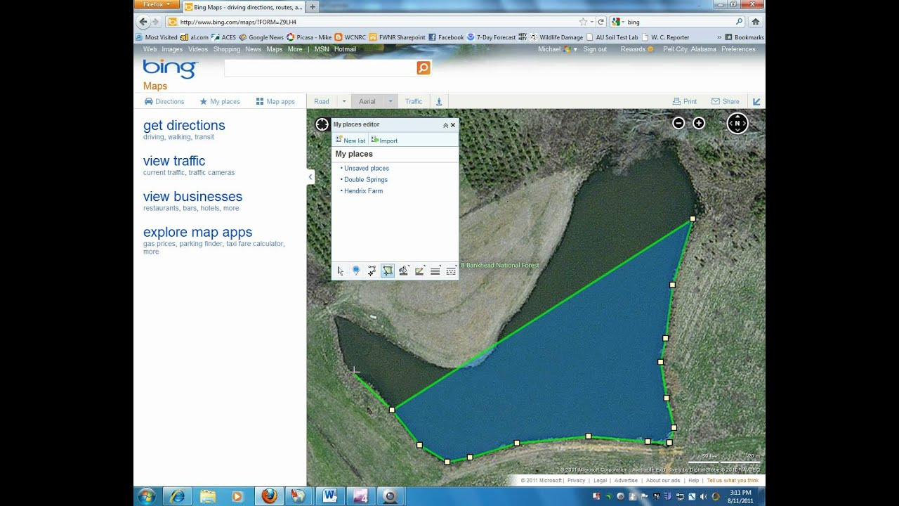 Measuring Acreage With Bing Mapswmv YouTube - Microsoft satellite maps