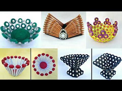 5 ideas of Newspaper basket | newspaper centerpiece | newspaper tokri | newspaper craft | HMA##272