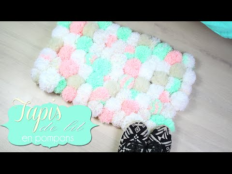 diy facile tapis en pompons tapis de lit cocooning pompom rug english subs youtube. Black Bedroom Furniture Sets. Home Design Ideas
