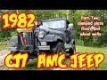 PT2 1982 Jeep Wrangler CJ7 rebuild, Diamond plate floors and wheels wells