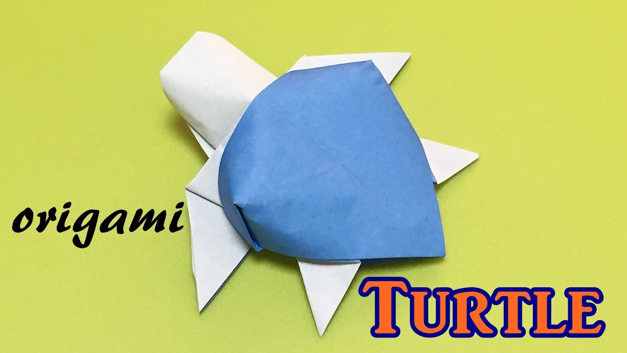 How To Make Origami Turtle - Easy Origami Turtle - YouTube | 720x1280