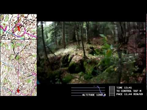 WOC 2011 Middle Final: HeadCam+Map