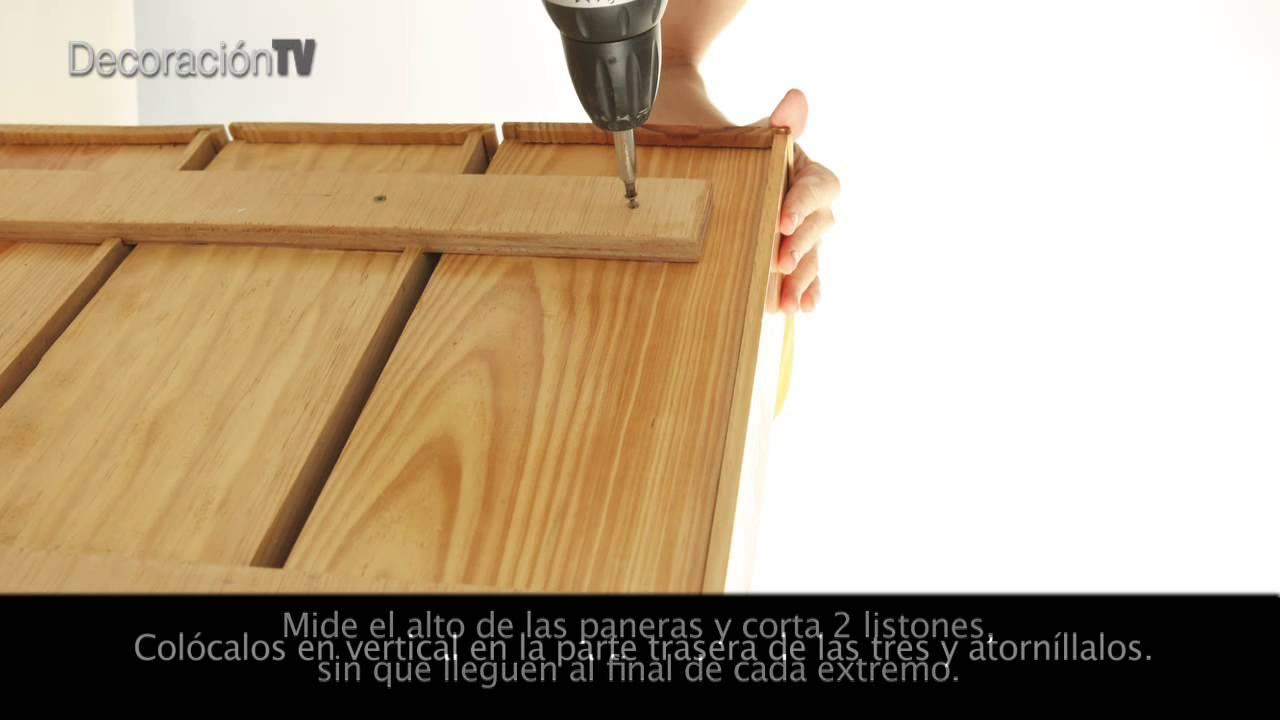 C mo hacer un mueble para la cocina con una panera youtube - Que hacer con un palet ...
