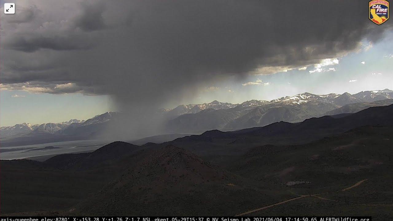 Mono Lake Downpour Time Lapse 6/4/2021 - 6/5/2021
