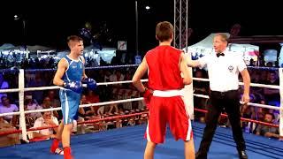 Combattimento di pugilato della Nazionale Italiana - Conopliov VS Christian Gasparri