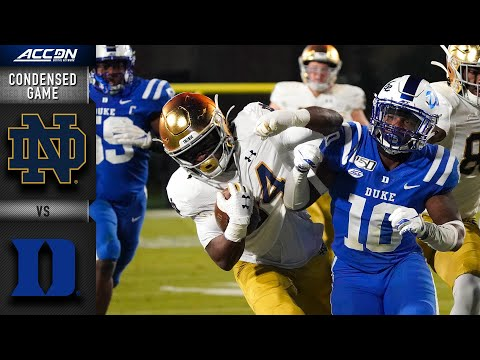 Notre Dame Vs. Duke - Condensed Game | ACC Football 2019-20