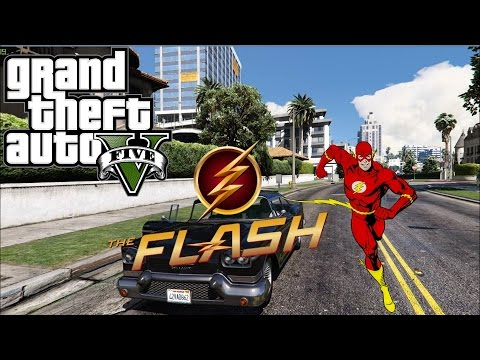 GTA 5 Mods: The FLASH Super Speed Mod with Force Unlimited! ★ Grand Theft Auto 5 Mods Gameplay