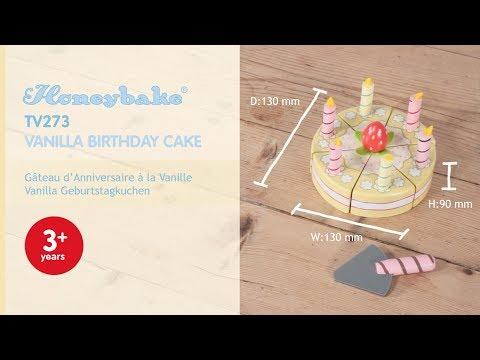 Vanilla Birthday Cake | Honeybake© Collection | Le Toy Van | Traditional Wooden Toys
