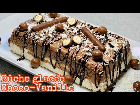 la-meilleure-bÛche-glacÉe-chocolat-vanille-de-2020-✅-très-facile-et-sans-moule-à-bûche🍫deli-cuisine
