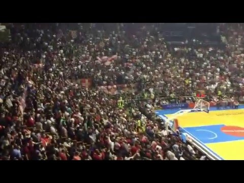 Crvena Zvezda Telekom - Khimki Moscow | Delije zvižde himni Evrolige