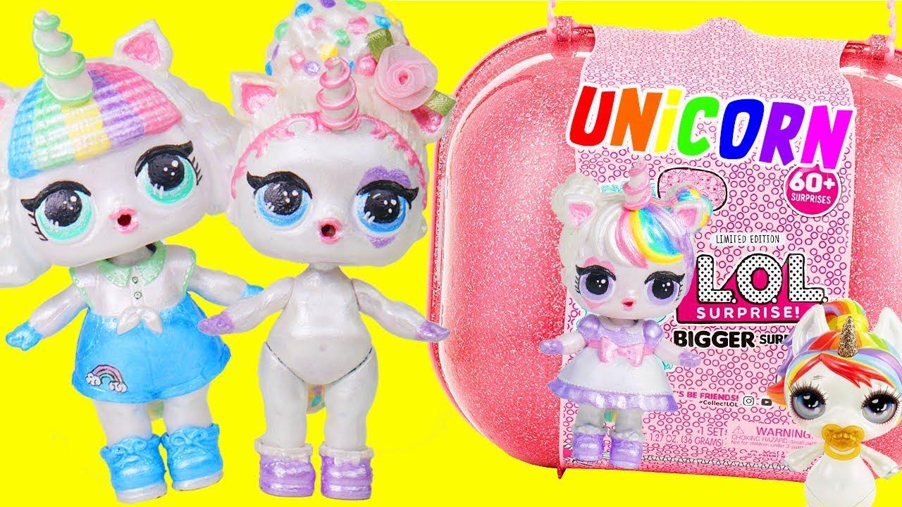 Lol Surprise Dolls Custom Unicorn Bigger Surprise Bedroom Store Toy Egg Videos Youtube