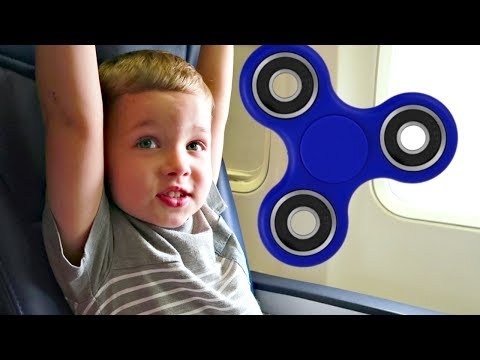 FLYING with Fidget Spinners✈️