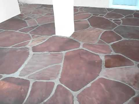 Flagstone Flooring After Sealing With Wet Look