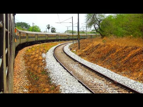 Train travel in Duronto Express train (Howrah to Bangalore) / South Western Railway / 34 clips
