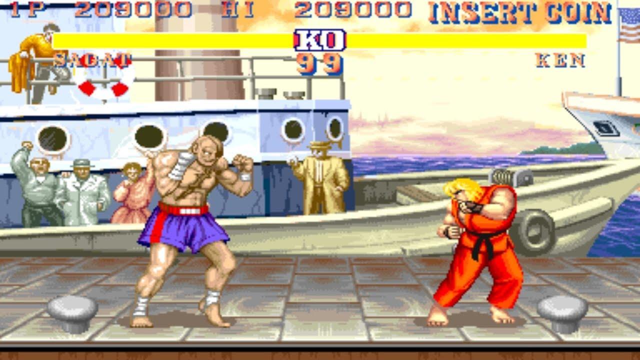 Street Fighter Ii Ce Arcade Sagat Youtube