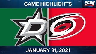 NHL Game Highlights | Stars Vs. Hurricanes - Jan. 31, 2021
