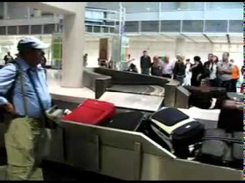 image Funny prank baggage check at event