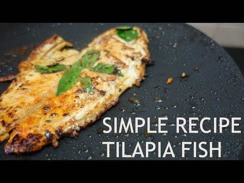 BODYBUILDING TILAPIA FISH RECIPE | BEGINNER COOKING