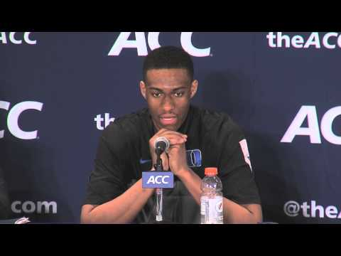 Duke's press conference after losing to Virginia in the ACC Championship game