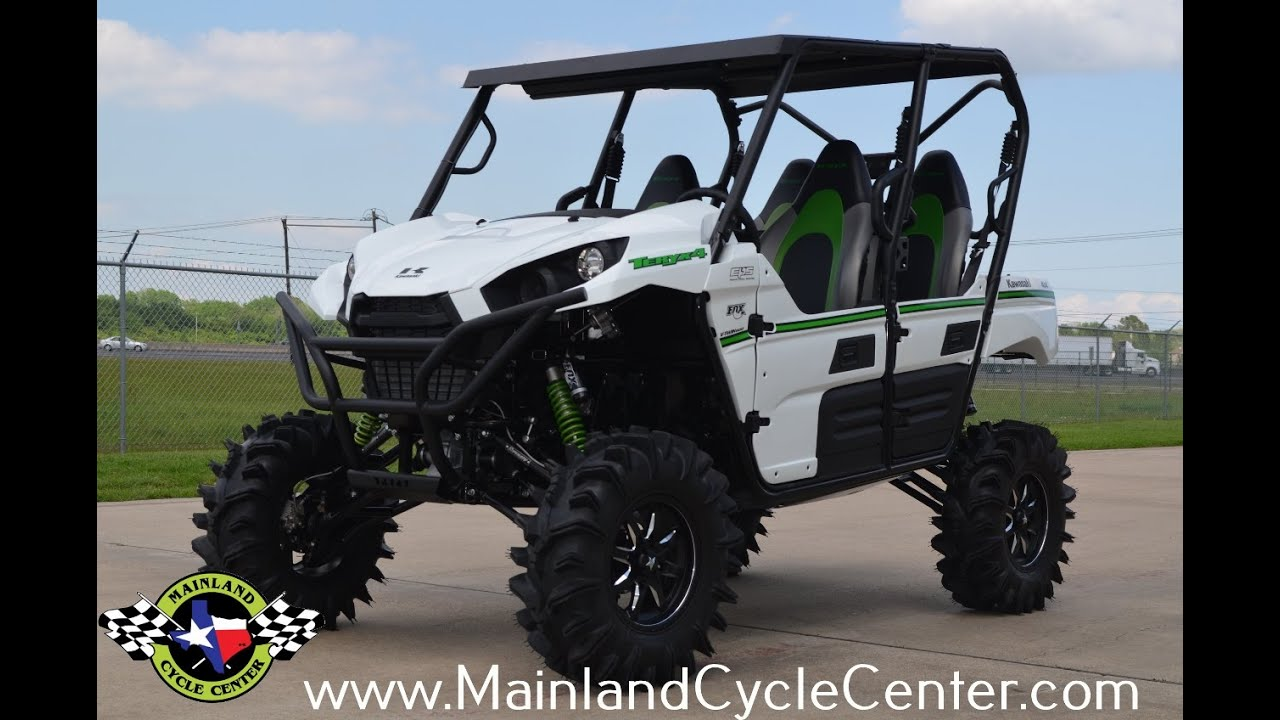$18,999: 2016 kawasaki teryx4 with 6 inch super atv lift overview