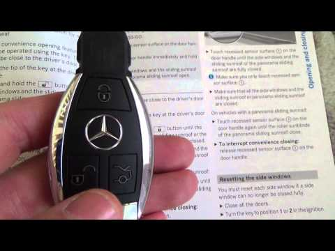 How To operate the OPEN & CLOSE Convenience feature on a MERCEDES BENZ C Class
