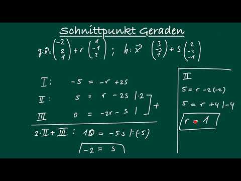 Schnittpunkt zweier Geraden berechnen, Beispiel 1 | V.02.01 from YouTube · Duration:  7 minutes 16 seconds