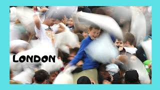The 2014 Pillow Fight Day, Trafalgar Square, London