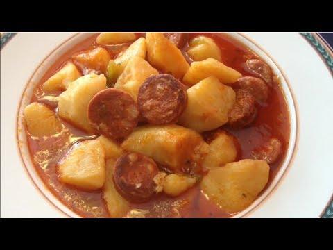 patatas con chorizo youtube