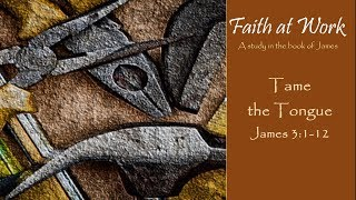 "Faith at Work: ""Tame the Tongue"""