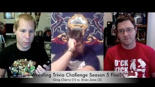 Brian Zane from Wrestling With Wregret challenges Greg Cherry for the Trivia Title