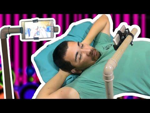 Como fazer um suporte para usar o Smartphone deitado!
