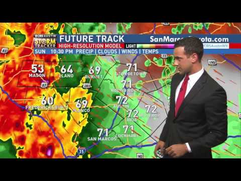 CBS Austin Severe Coverage- Full Weather (10pm), Prior to 4 TOR Touchdowns. Feb 19th. Collin Myers