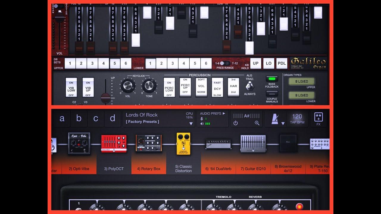 Galileo and tonestack classic rock organ sound for ipad for Classic house organ sound