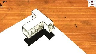 Siêu Dễ ! Làm NTN để vẽ chữ T 3D BAY TRÊN MẶT GIẤY
