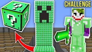 CREEPER ŞANS BLOKLARI CHALLENGE - Minecraft