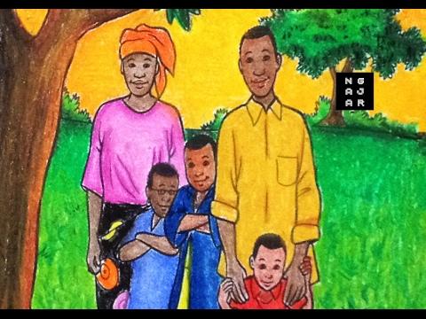 Mewarnai Photo Keluarga Orang Afrika Dengan Crayon Gradasi Youtube