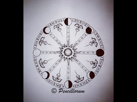 "Drawing Time Lapse: Black&White Tattoo ""The wheel of Life"""