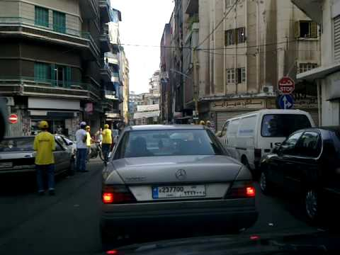 Driving through Ras El-Nabeh on the municipal elections day in Beirut