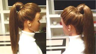 Пышный хвост своими руками. Простая прическа на каждый день. Easy hairstyle(Пышный хвост своими руками.Простая прическа на каждый день.Easy hairstyle Канал с прическами http://www.youtube.com/user/LiliaLady7..., 2016-01-11T09:58:53.000Z)