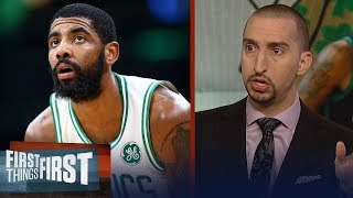Nick Wright reacts to Ainge's claim Celtics, Kyrie are 'still engaged' | NBA | FIRST THINGS FIRST