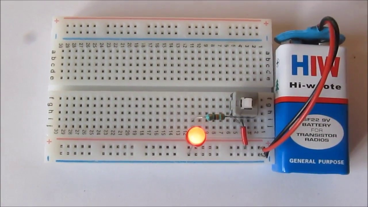 Push On Off Switch Led Circuit Youtube Simple Using A To Control Create The