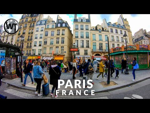 Paris - 4th Arrondissement, The Marais - Walking Tour〚𝟒𝐊〛🇫🇷 France