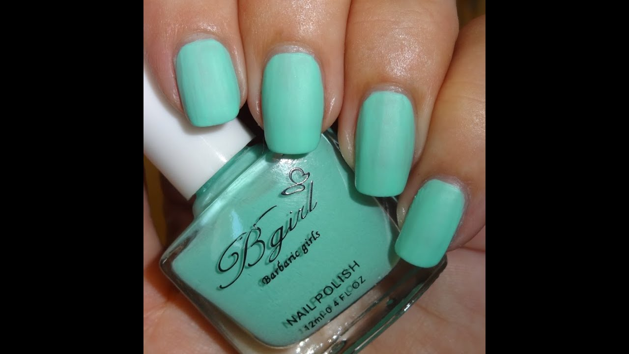 Born Pretty Store Frosted Matte Nail Polish - Mint Green - YouTube