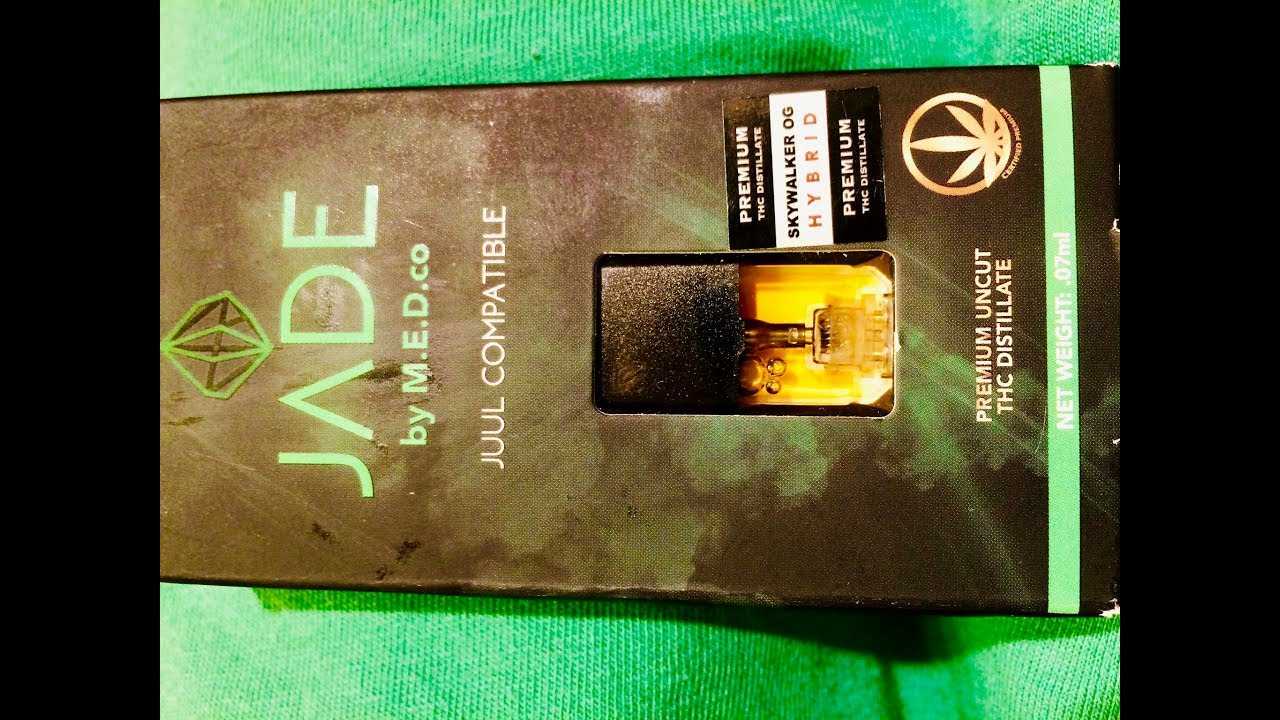 JADE by M E D co (JUUL compatible)- Skywalker OG (Hybrid) THC Pod review