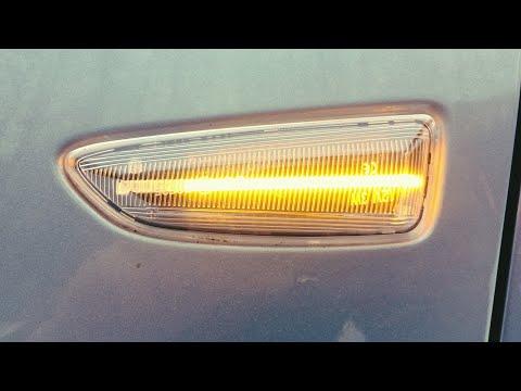 Установка динамических указателей поворота на Opel Astra J.