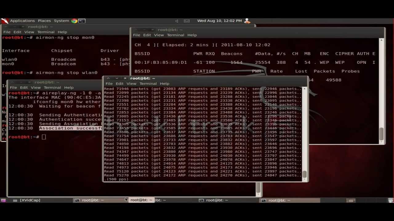 backtrack 5 claves wep con filtrado mac
