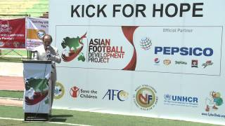 Mr. Nidal Hamam PepsiCo Speech on Kick for Hope on World Refugee Day 2013