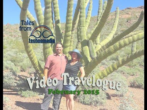 Arizona Desert Boondocking: Cibola, Yuma & Ajo - (Video Travelogue: Feb 2015)